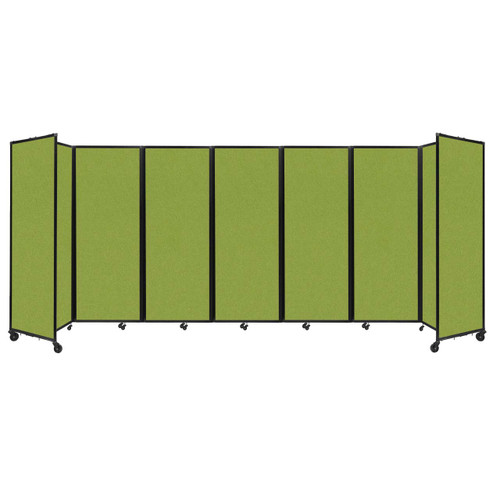 """Room Divider 360 Folding Portable Partition 19'6"""" x 7'6"""" Lime Green Fabric"""