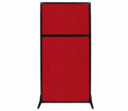 """Work Station Screen 33"""" x 70"""" Red Fabric"""