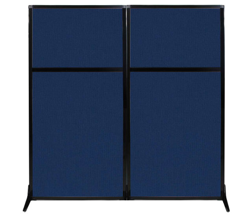 "Work Station Screen 66"" x 70"" Navy Blue Fabric"