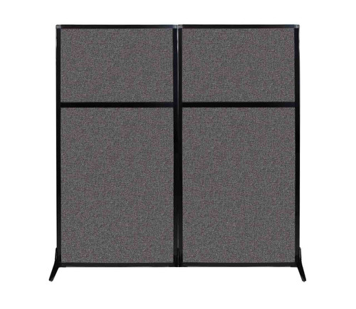 "Work Station Screen 66"" x 70"" Charcoal Gray Fabric"