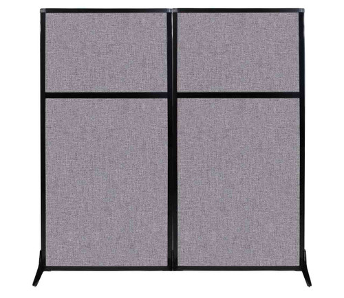 "Work Station Screen 66"" x 70"" Cloud Gray Fabric"