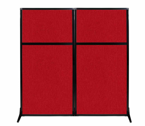 "Work Station Screen 66"" x 70"" Red Fabric"