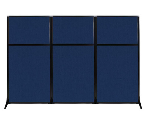 "Work Station Screen 99"" x 70"" Navy Blue Fabric"