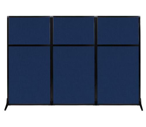 "Work Station Screen 99"" x 70"" Navy Blue Fabric"