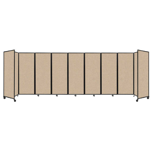 """Room Divider 360 Folding Portable Partition 25' x 7'6"""" Beige Fabric"""