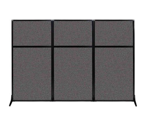 "Work Station Screen 99"" x 70"" Charcoal Gray Fabric"