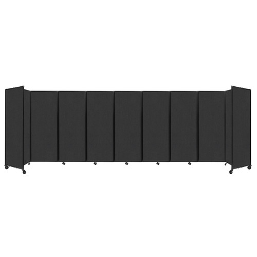 """Room Divider 360 Folding Portable Partition 25' x 7'6"""" Black Fabric"""