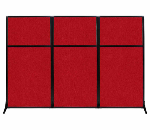 "Work Station Screen 99"" x 70"" Red Fabric"