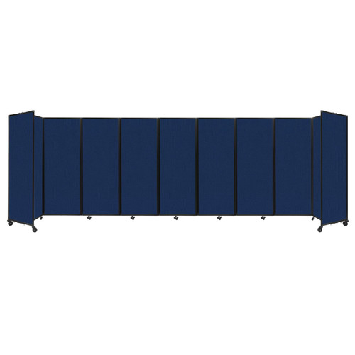 """Room Divider 360 Folding Portable Partition 25' x 7'6"""" Navy Blue Fabric"""