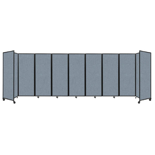 """Room Divider 360 Folding Portable Partition 25' x 7'6"""" Powder Blue Fabric"""
