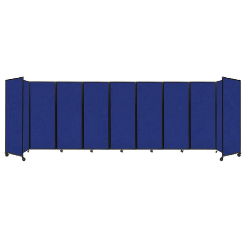 """Room Divider 360 Folding Portable Partition 25' x 7'6"""" Royal Blue Fabric"""