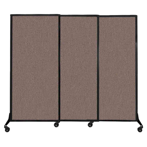 """QuickWall Sliding Portable Partition 7' x 5'10"""" Latte Fabric"""