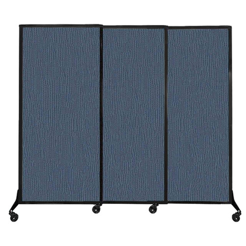 "QuickWall Sliding Portable Partition 7' x 5'10"" Ocean Fabric"