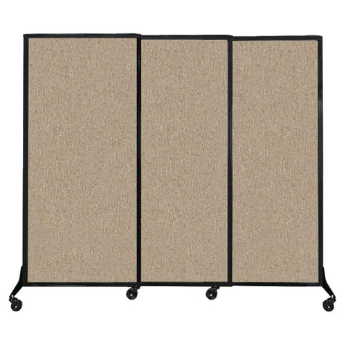 """QuickWall Sliding Portable Partition 7' x 5'10"""" Rye Fabric"""