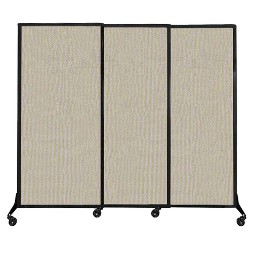 """QuickWall Sliding Portable Partition 7' x 5'10"""" Sand Fabric"""