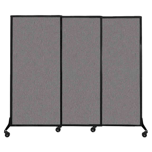 """QuickWall Sliding Portable Partition 7' x 5'10"""" Slate Fabric"""