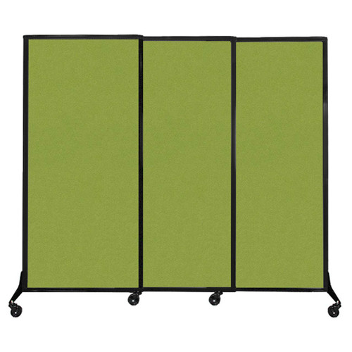 """QuickWall Sliding Portable Partition 7' x 5'10"""" Lime Green Fabric"""