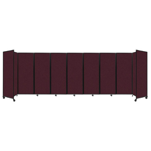 """Room Divider 360 Folding Portable Partition 25' x 7'6"""" Cranberry Fabric"""