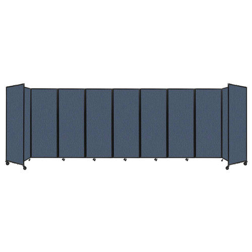 """Room Divider 360 Folding Portable Partition 25' x 7'6"""" Ocean Fabric"""