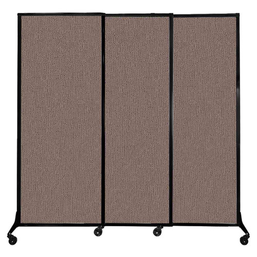 """QuickWall Sliding Portable Partition 7' x 6'8"""" Latte Fabric"""