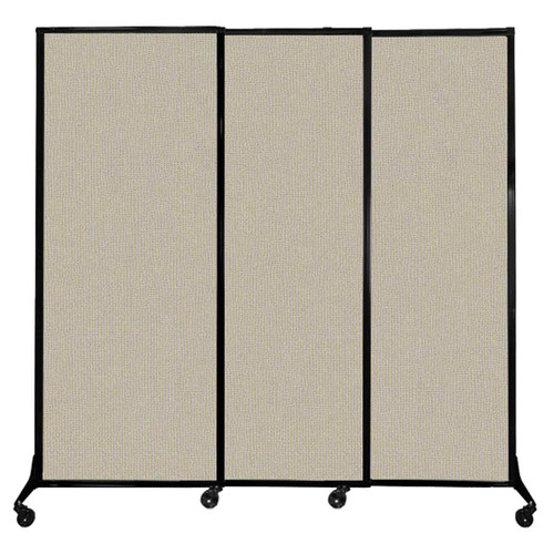 """QuickWall Sliding Portable Partition 7' x 6'8"""" Sand Fabric"""