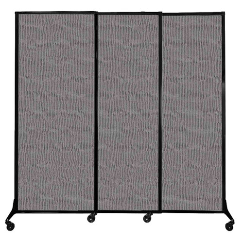 """QuickWall Sliding Portable Partition 7' x 6'8"""" Slate Fabric"""