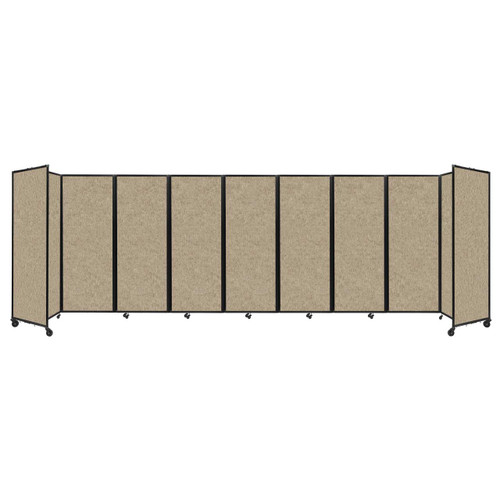 """Room Divider 360 Folding Portable Partition 25' x 7'6"""" Rye Fabric"""