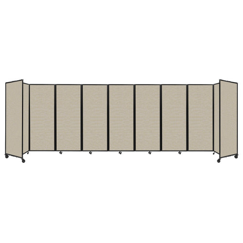 """Room Divider 360 Folding Portable Partition 25' x 7'6"""" Sand Fabric"""
