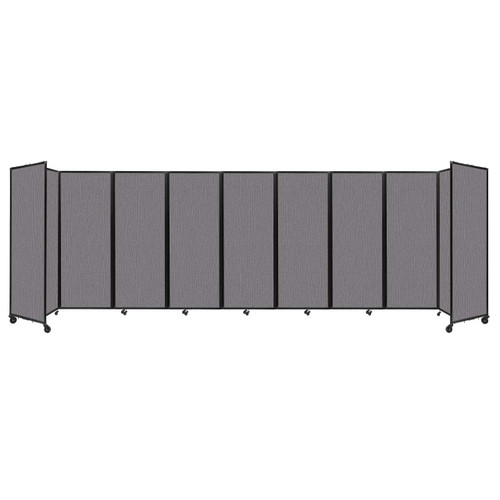 """Room Divider 360 Folding Portable Partition 25' x 7'6"""" Slate Fabric"""