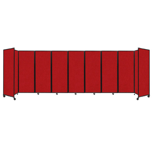 """Room Divider 360 Folding Portable Partition 25' x 7'6"""" Red Fabric"""