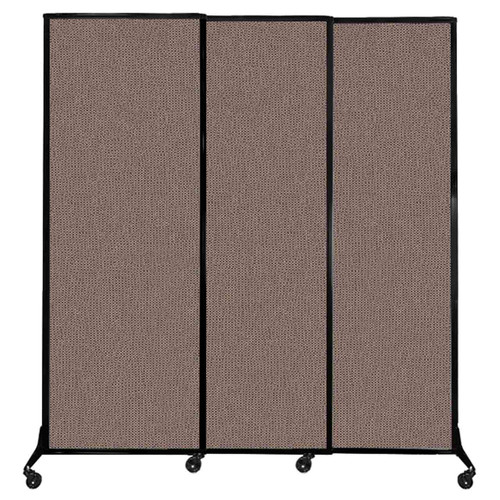 """QuickWall Sliding Portable Partition 7' x 7'4"""" Latte Fabric"""