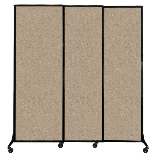 """QuickWall Sliding Portable Partition 7' x 7'4"""" Rye Fabric"""