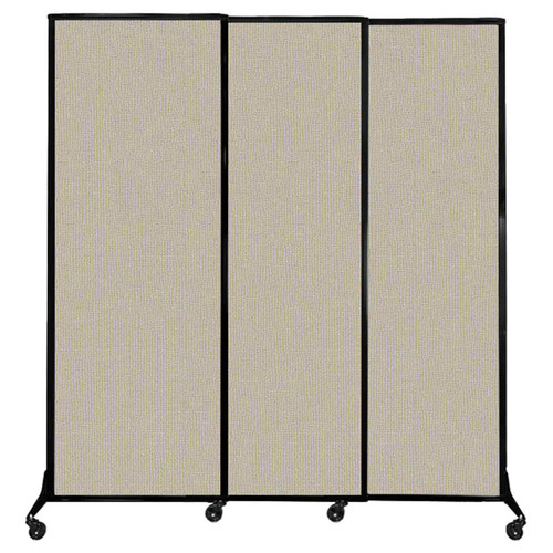 """QuickWall Sliding Portable Partition 7' x 7'4"""" Sand Fabric"""