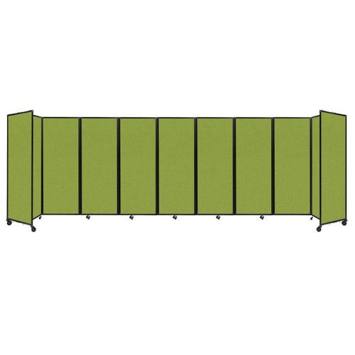 """Room Divider 360 Folding Portable Partition 25' x 7'6"""" Lime Green Fabric"""