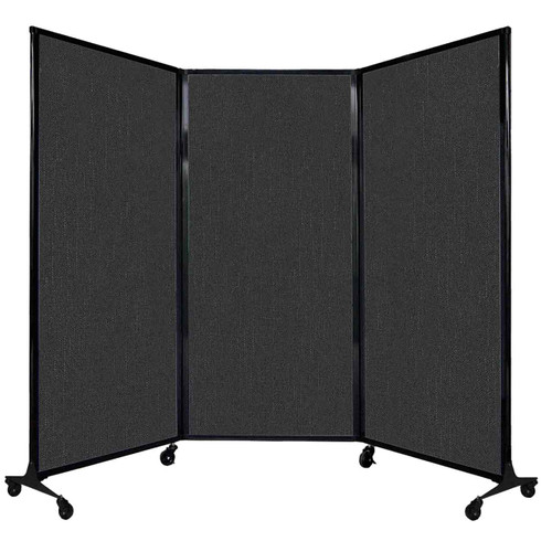 """QuickWall Folding Portable Partition 8'4"""" x 5'10"""" Black Fabric"""