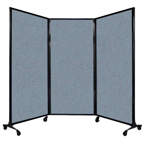 """QuickWall Folding Portable Partition 8'4"""" x 5'10"""" Powder Blue Fabric"""