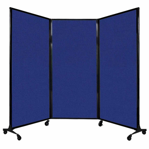 """QuickWall Folding Portable Partition 8'4"""" x 5'10"""" Royal Blue Fabric"""