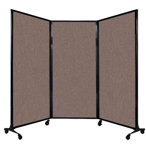 """QuickWall Folding Portable Partition 8'4"""" x 5'10"""" Latte Fabric"""