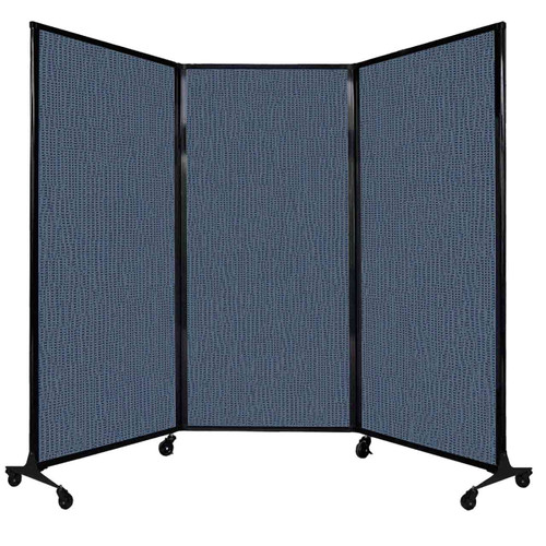 """QuickWall Folding Portable Partition 8'4"""" x 5'10"""" Ocean Fabric"""