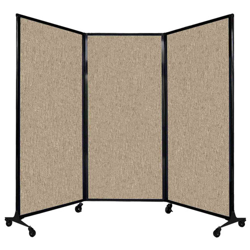 """QuickWall Folding Portable Partition 8'4"""" x 5'10"""" Rye Fabric"""