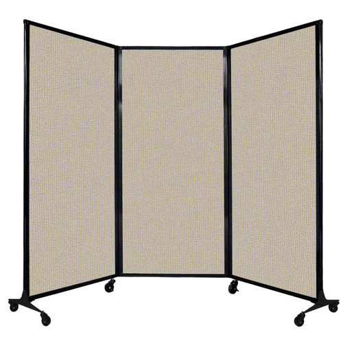 """QuickWall Folding Portable Partition 8'4"""" x 5'10"""" Sand Fabric"""
