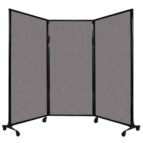 """QuickWall Folding Portable Partition 8'4"""" x 5'10"""" Slate Fabric"""