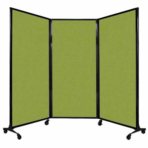 "QuickWall Folding Portable Partition 8'4"" x 5'10"" Lime Green Fabric"