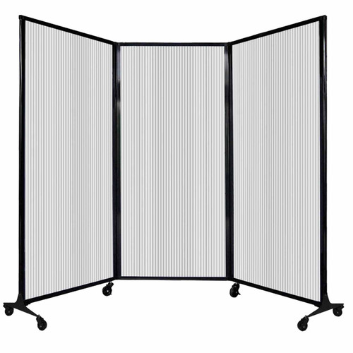 """QuickWall Folding Portable Partition 8'4"""" x 5'10"""" Clear Polycarbonate"""