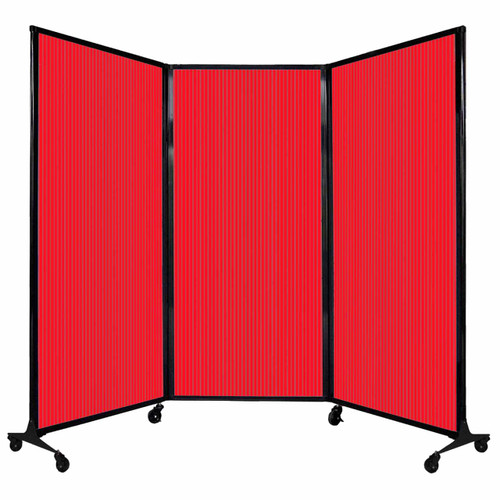 """QuickWall Folding Portable Partition 8'4"""" x 5'10"""" Red Polycarbonate"""