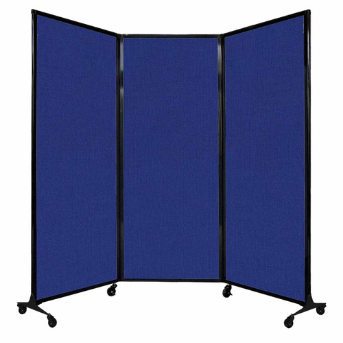 "QuickWall Folding Portable Partition 8'4"" x 6'8"" Royal Blue Fabric"
