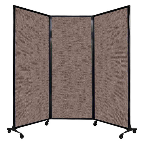 """QuickWall Folding Portable Partition 8'4"""" x 6'8"""" Latte Fabric"""