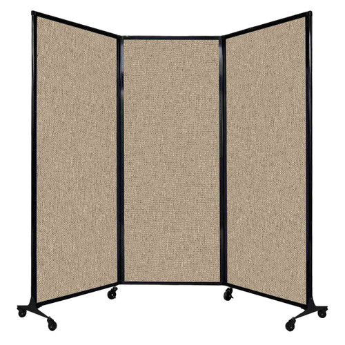 "QuickWall Folding Portable Partition 8'4"" x 6'8"" Rye Fabric"