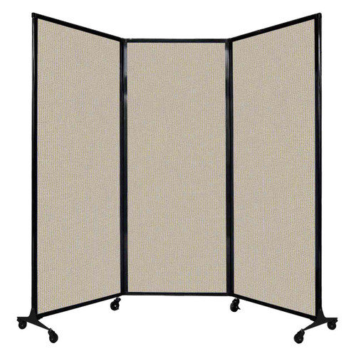 """QuickWall Folding Portable Partition 8'4"""" x 6'8"""" Sand Fabric"""