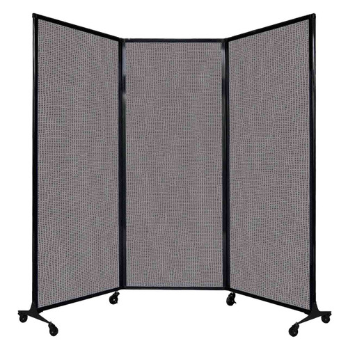 "QuickWall Folding Portable Partition 8'4"" x 6'8"" Slate Fabric"